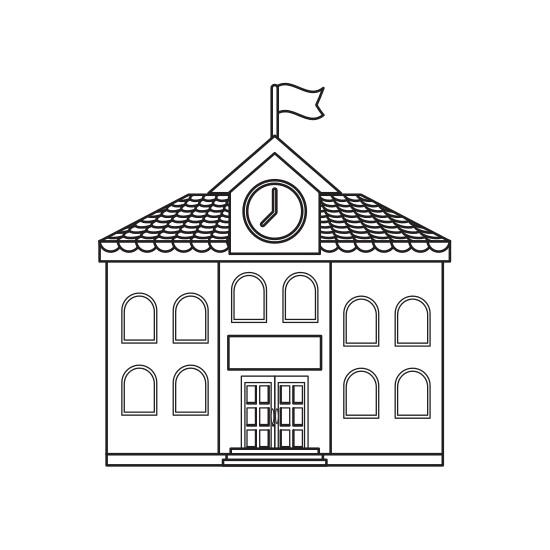 Marketplace drawing building. School icon icons by