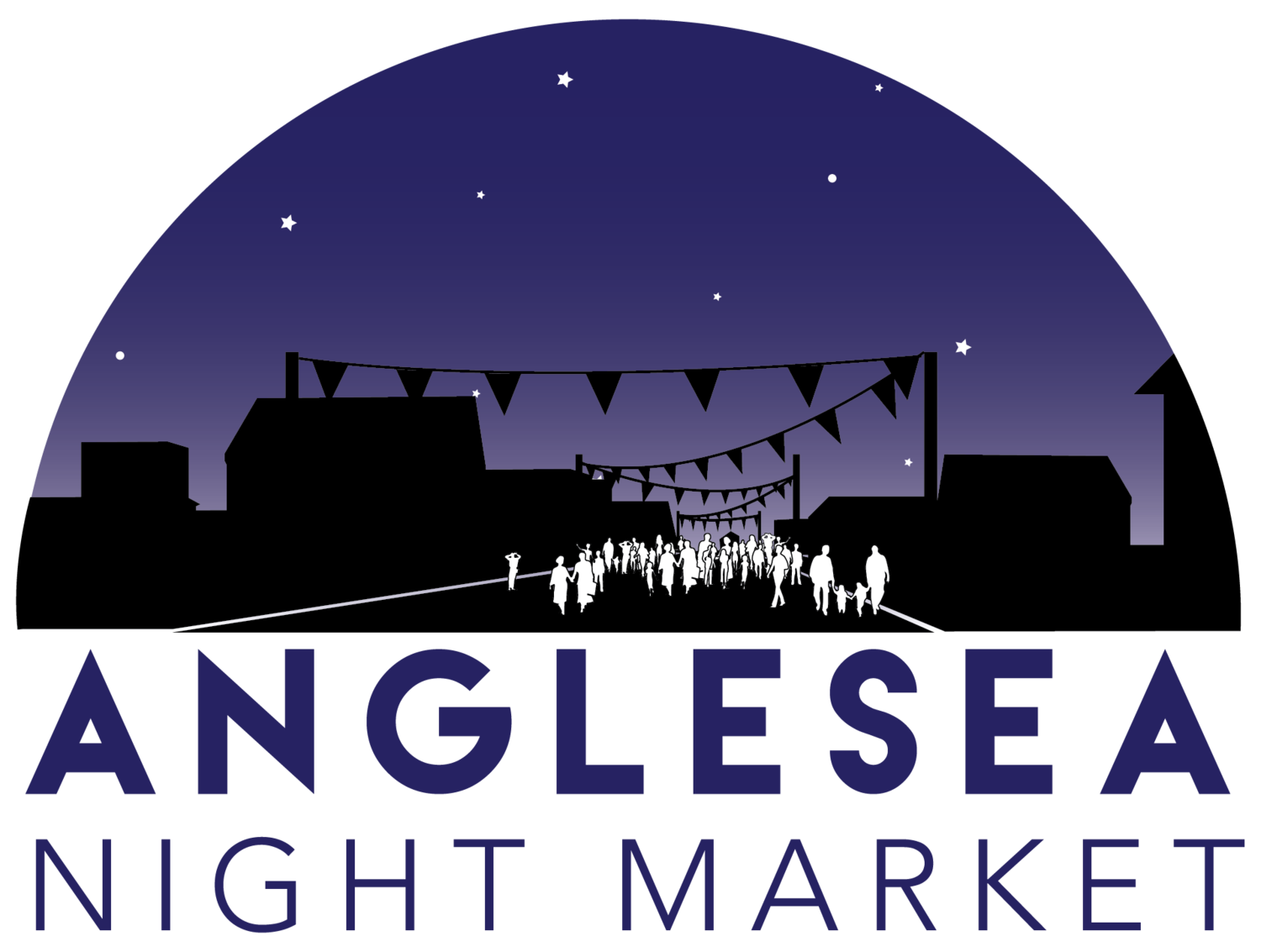 Marketplace drawing night market. Anglesea angelsea