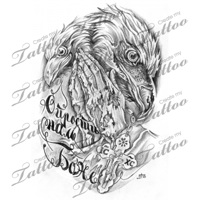 Marketplace drawing sketches. Tattoo eagles and cross