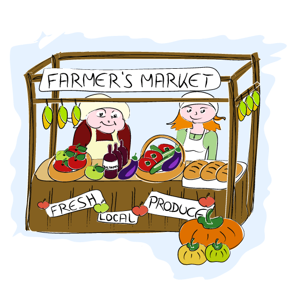 marketplace drawing clipart