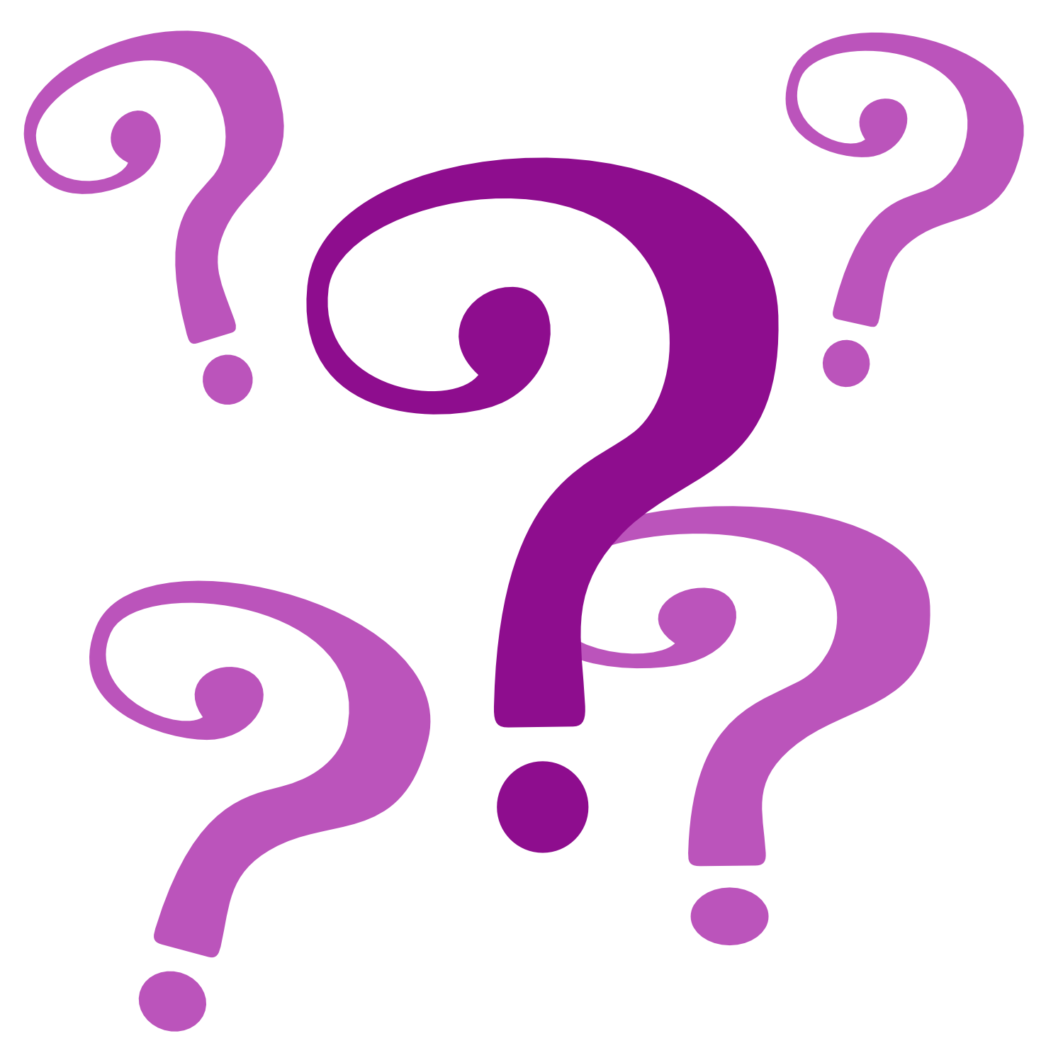 Marks clipart cluster. Frequently asked questions faqs