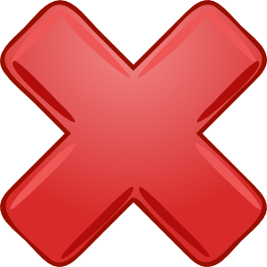 X clipart x sign. Red cross wrong not
