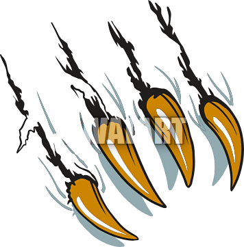 Claws vector marks. Claw cliparts tiger clipart