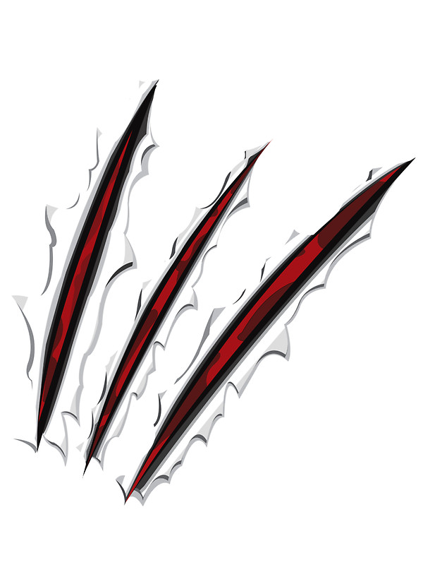 Marks clipart wolverine claw. Tiger stickers navzrawks redbubble