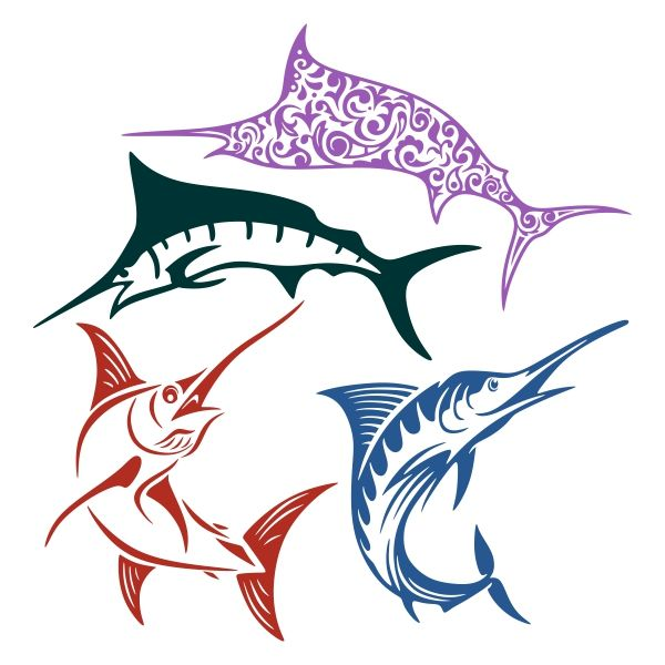 marlin clipart svg