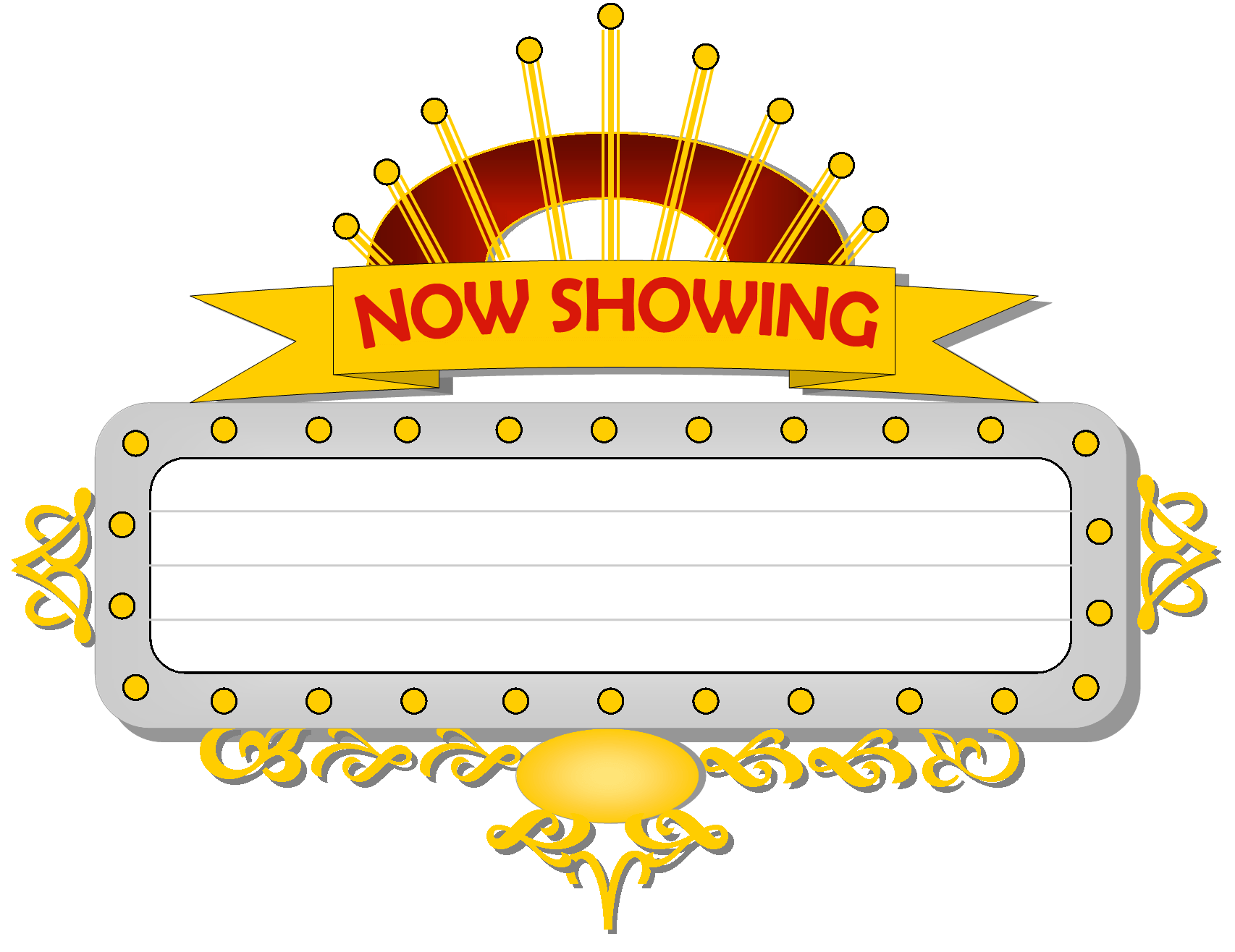 Marquee clipart movie themed. Image signs clip art