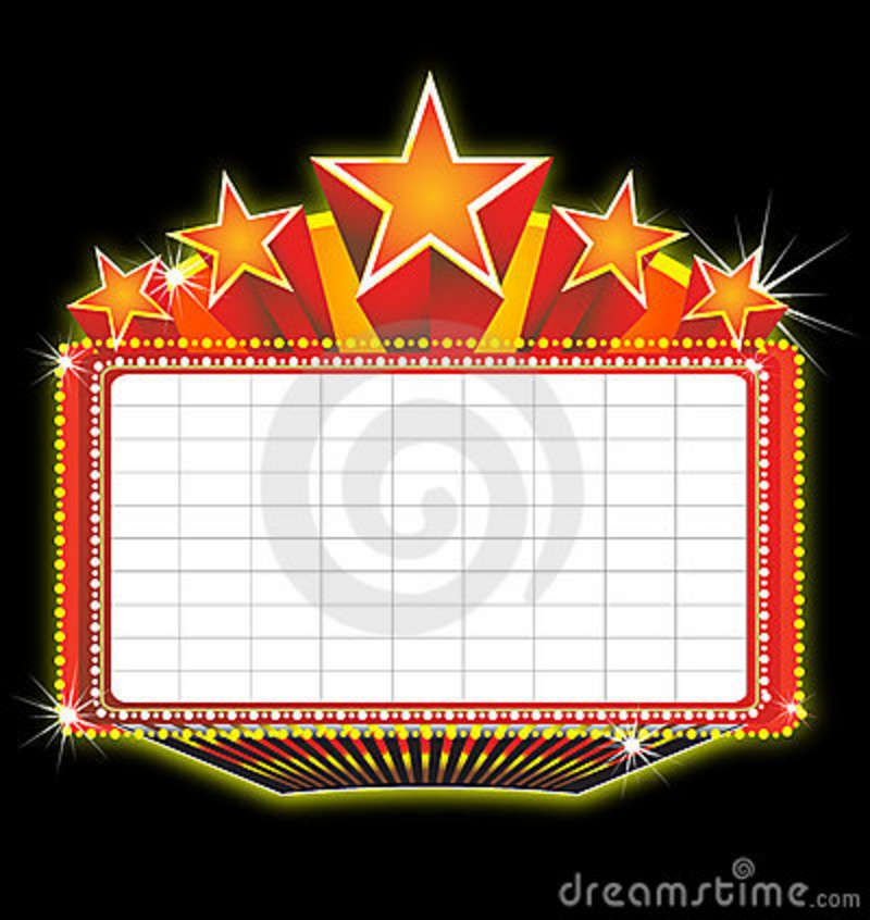Marquee clipart movie themed. Theater google search theme