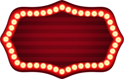 Marquee clipart movie themed. Theater sign psd craft