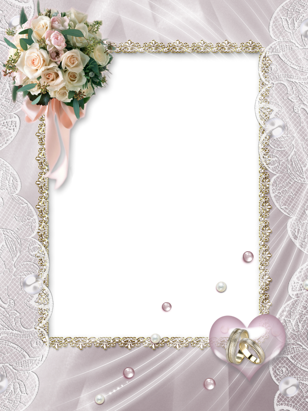 Beautiful Soft Transparent Wedding Photo Frame