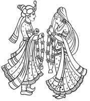 eb fee d. Marriage clipart dulha dulhan jpg transparent library
