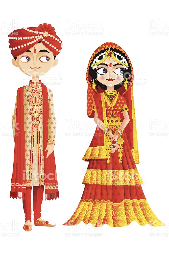 Marriage clipart dulha dulhan. Indian wedding baraat collection