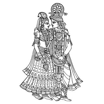 Hindu free pnglogocoloring pages. Marriage clipart dulha dulhan picture freeuse stock
