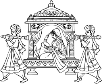 Marriage clipart procession. Wedding symbols hindu indian