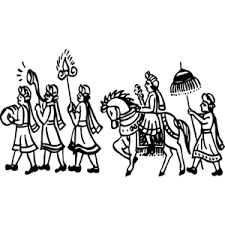 Marriage clipart procession. Image result for indian