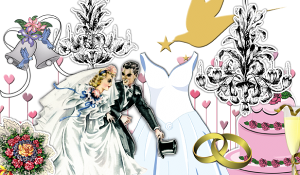 Marriage clipart procession. Scrapbooking themes quickstart wedding