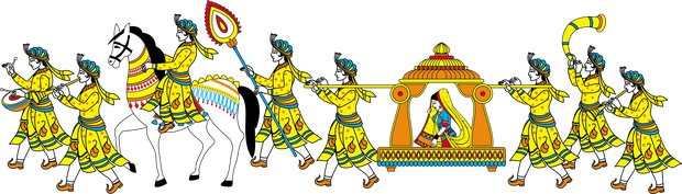 Marriage clipart procession. Rituals explained ashwini and