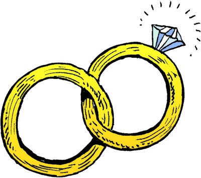 Wedding ring image joined. Rings clipart picture freeuse download