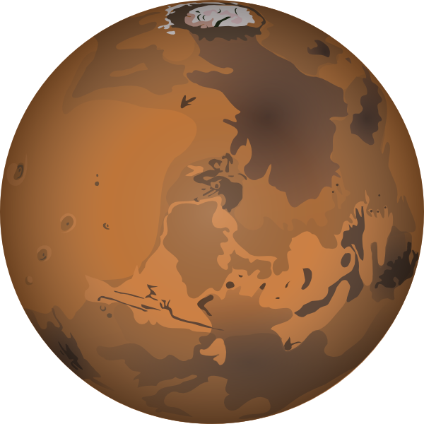 Earth mars celestial structures. Planet clipart orange planet picture free library