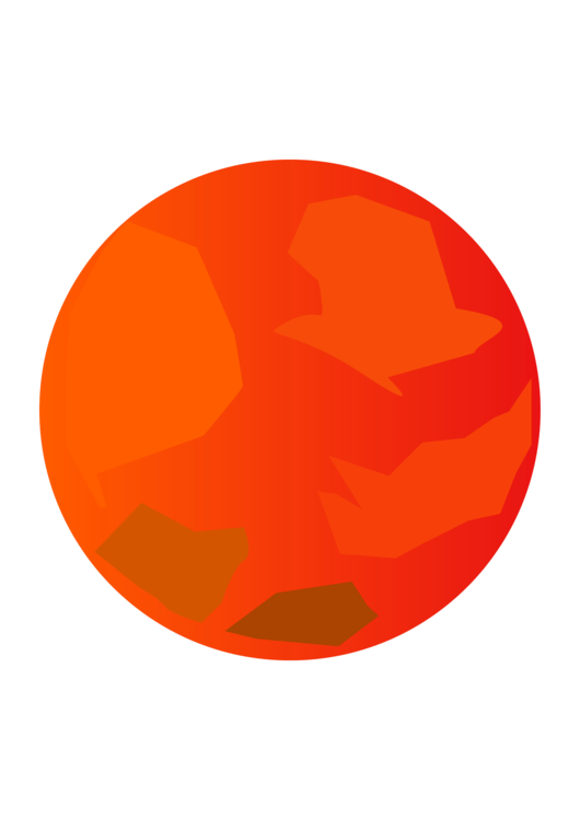 Planet clipart orange planet. Mars surface color red