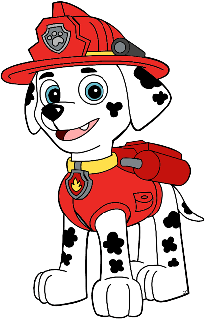 Marshall from paw patrol png. Clip art cartoon