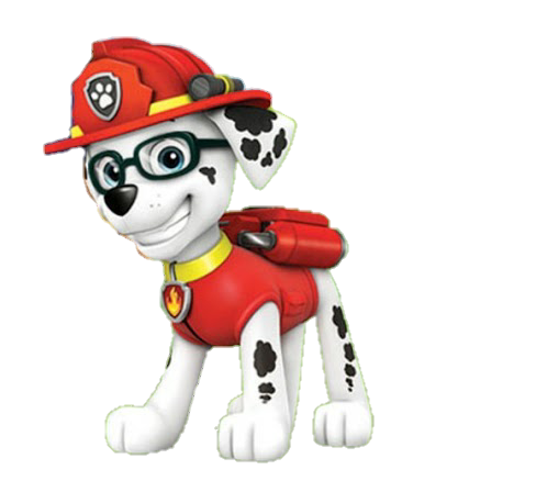Marshall from paw patrol png. Sticker by bruna
