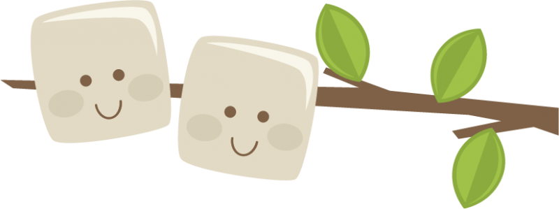 Marshmallow clipart camping. Marshmallows on a stick