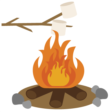 Roasting marshmallows svg scrapbook. Outdoors clipart camp fire flame transparent download