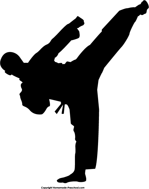Martial arts clipart. Fun and free silhouette