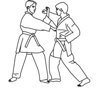 Martial arts clipart black and white. Search results for art