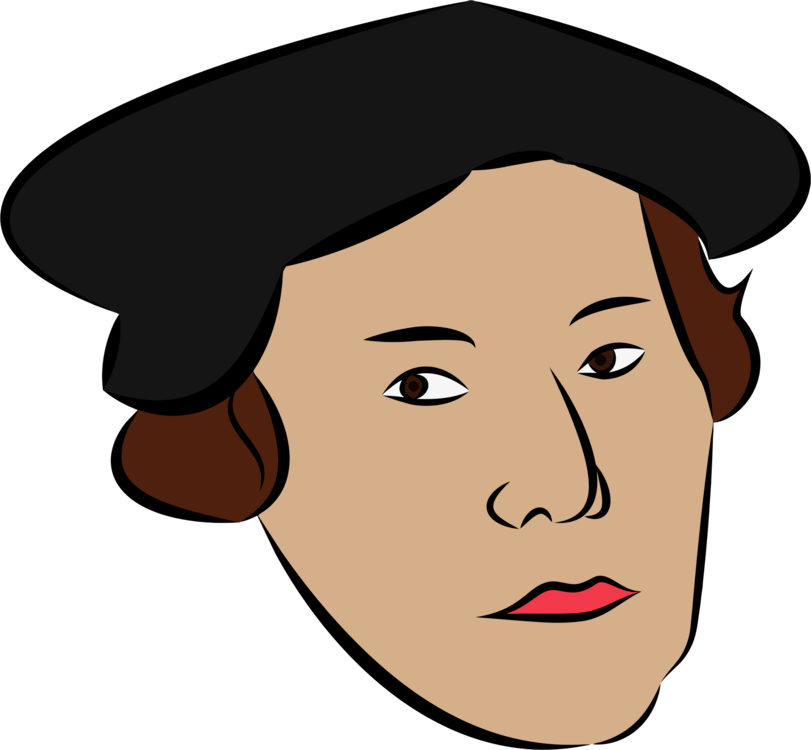 Martin luther clipart icon. Reformation public domain religion