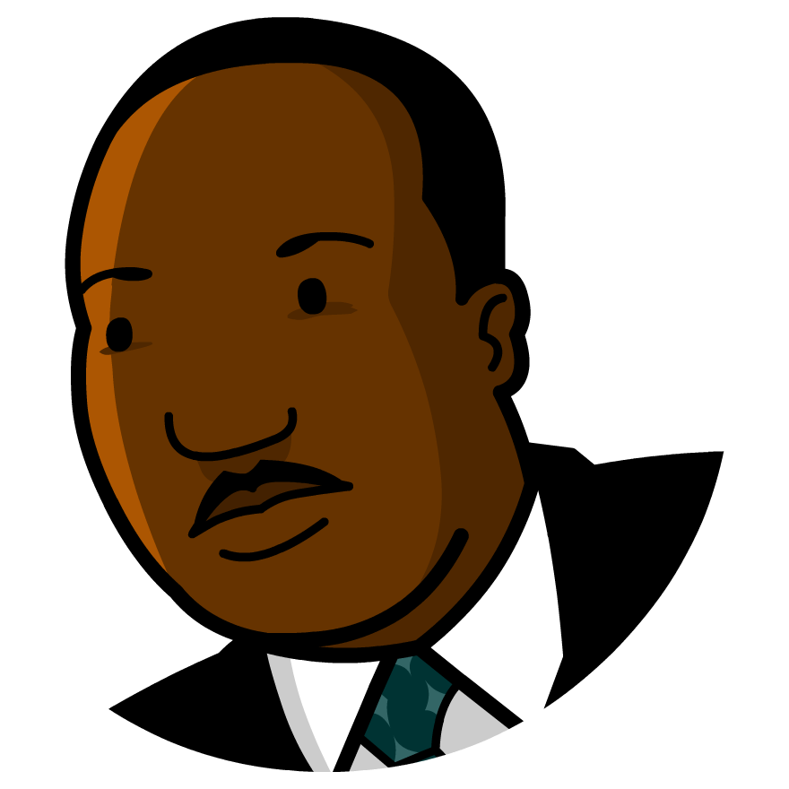 Martin luther clipart icon. Pleasurable king jr day