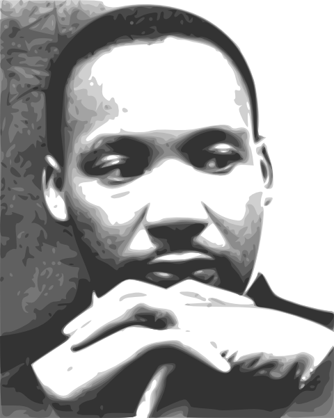 Mlk vector typography. Free cliparts download clip