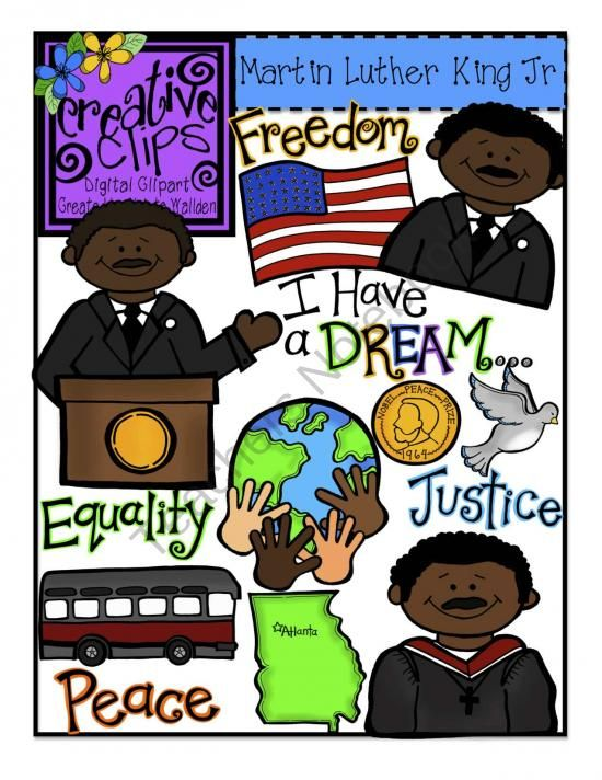 Martin luther jr clipart theme. King day creative clips