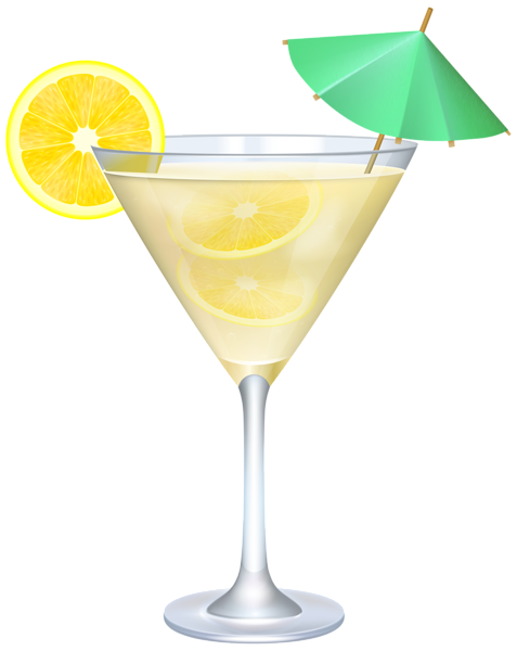 Martini clip art png. Cocktail with lemon and