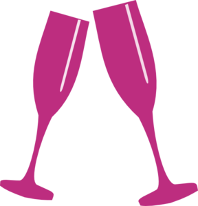 martini clipart pink wine glass