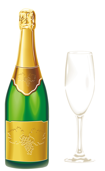 Champaign clipart liquor bottle. Champagne with glass png
