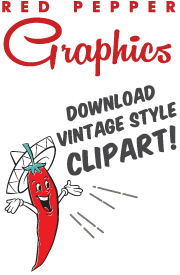Vector santa retro. Red pepper graphics vintage