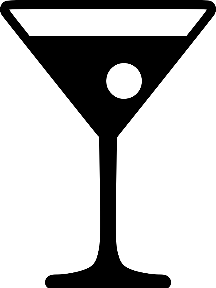 Martini silhouette png. Glass images in collection