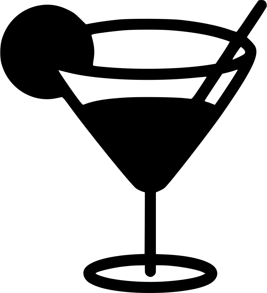 Martini icon png. Glass svg free download