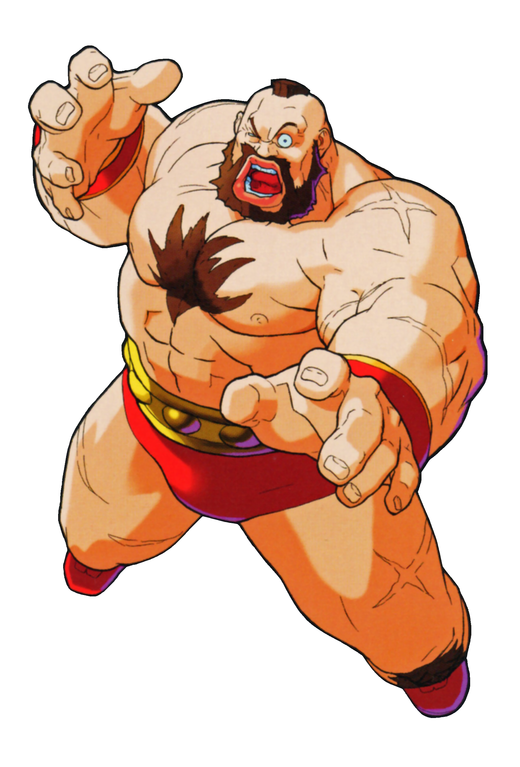 Marvel super heroes vs street fighter png. Image zangief as he