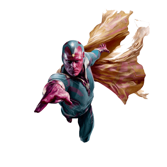 Marvel transparent png. Vision flying stickpng download