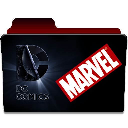 Marvel vs dc png. Folder icon by giilpereiraa