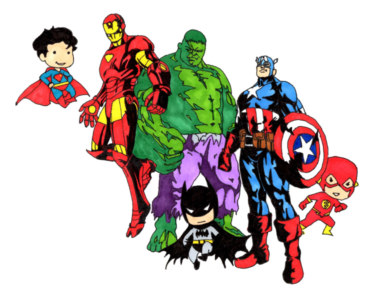 Marvel vs dc png. Everyone wants to be