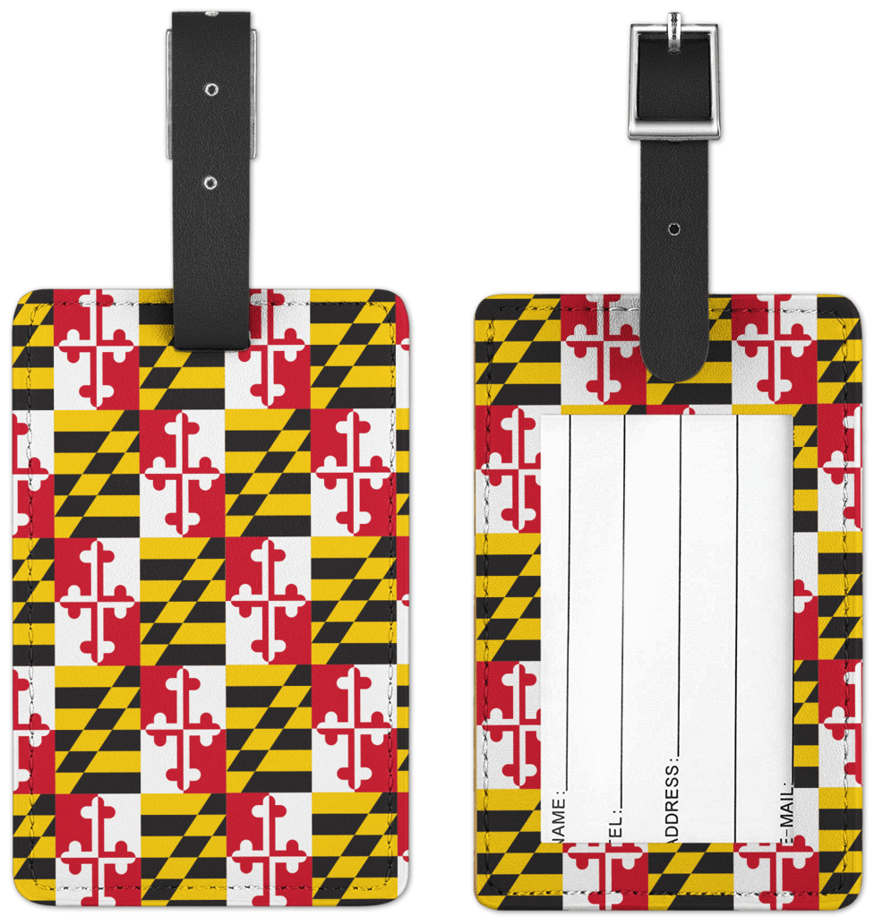 Maryland flag png. Luggage tag route one
