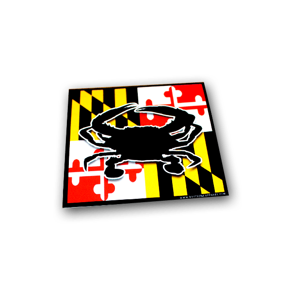 Maryland flag png. Crab sticker route one