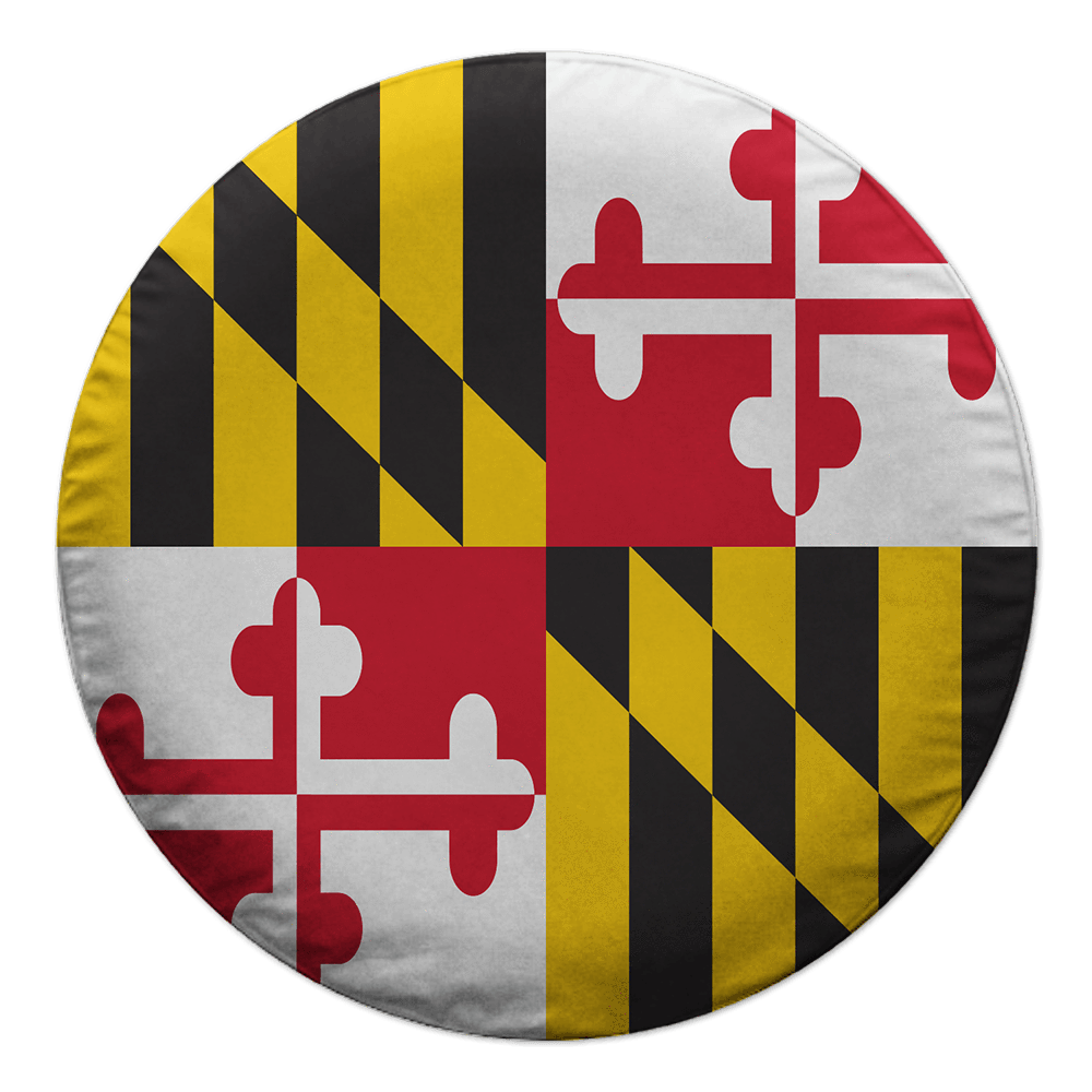 Maryland flag png. Car hood cover route