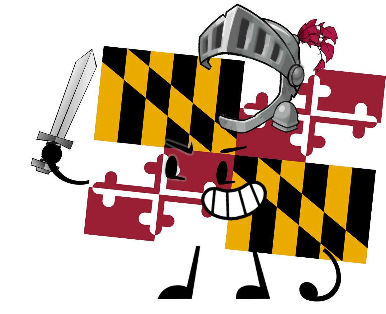 Maryland flag png. Image pose object shows