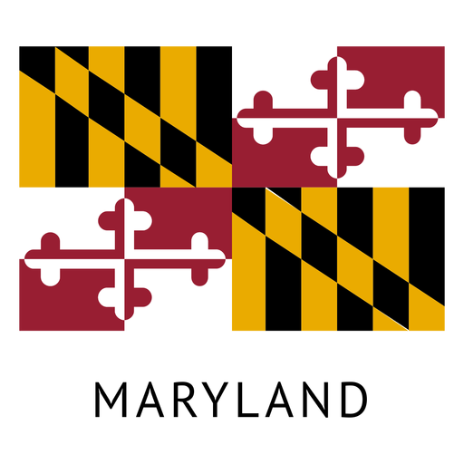 Maryland vector. State flag transparent png