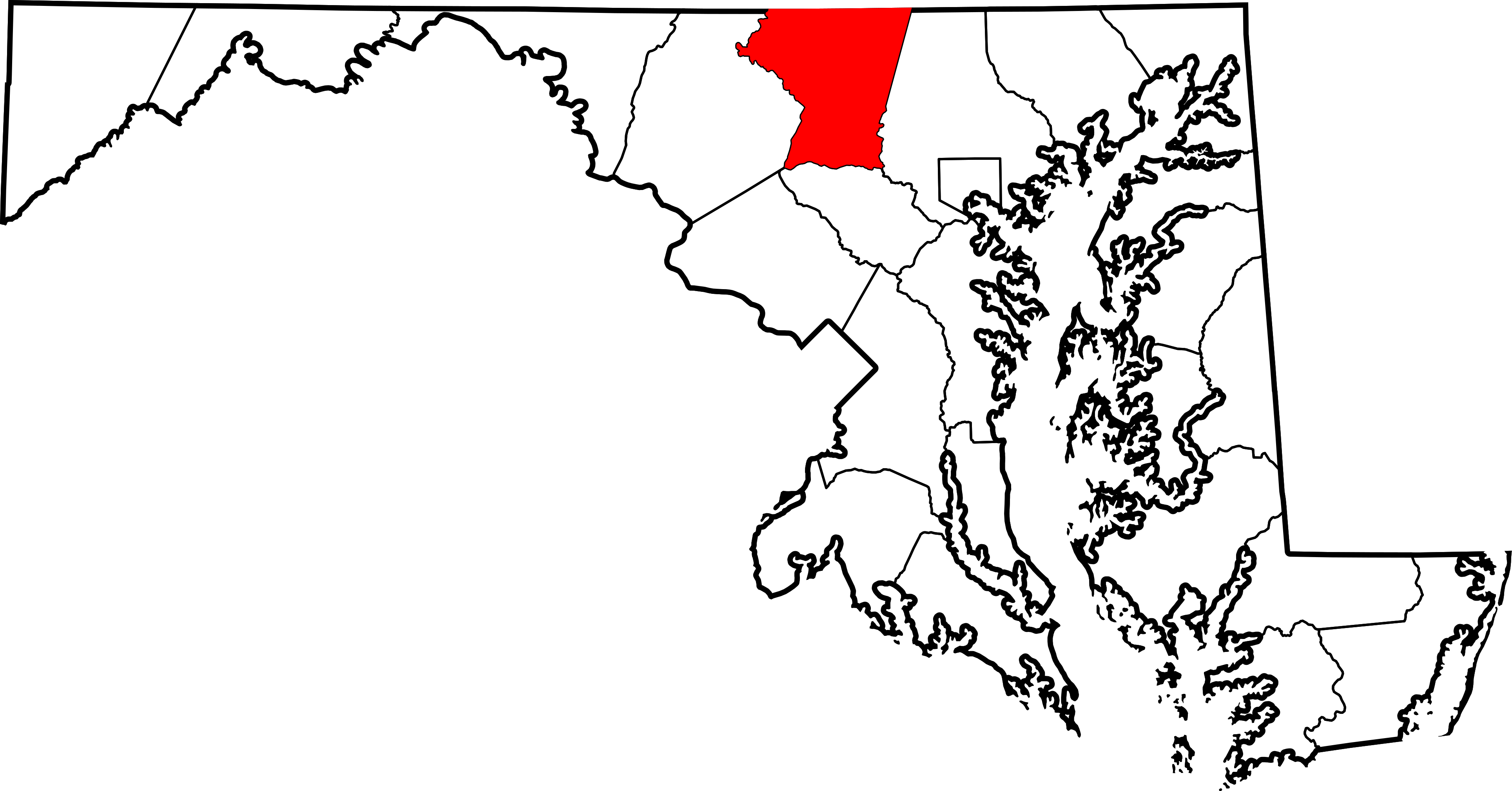 Maryland vector black and white