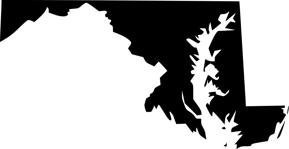 Maryland vector black and white. Md svg png icon